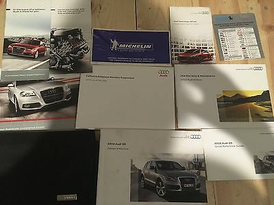 2010 10 Audi Q5/ SQ5 OWNERS MANUAL SET COMPLETE WITH CASE