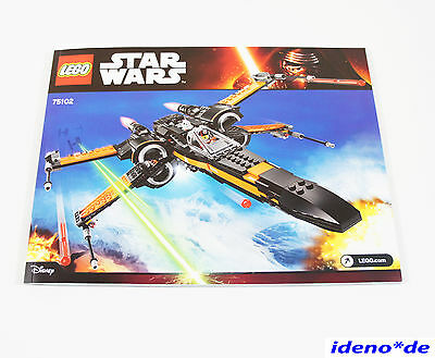 lego bauanleitung star wars 75102 poes x wing fighter neu no parts eur 4 85 picclick it. Black Bedroom Furniture Sets. Home Design Ideas