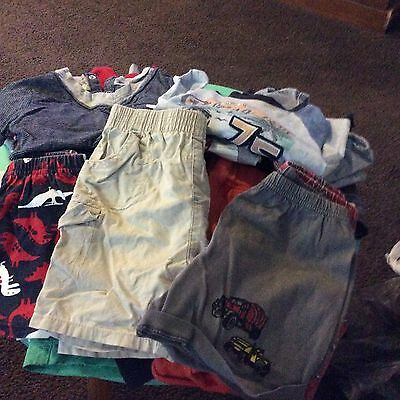 Toddler Boy Bulk Clothes Size 1 Singlets, Shorts And T Shirts Used