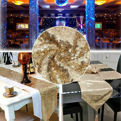 Noble Glitter Sequin Table Runner Sparkly Wedding Birthday Party Decor