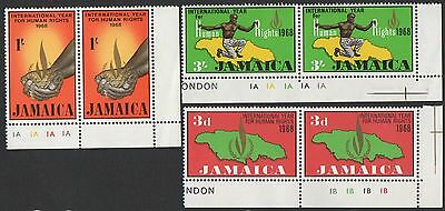 Jamaica stamps.1968 International Year for Human Rights. MNH