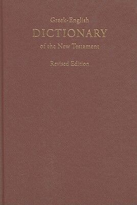 Greek-English Dictionary of the New Testament by Hardcover Book (Greek)