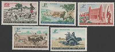 Mali stamps.  1961 Livestock Farming, Agriculture and Art. MLH