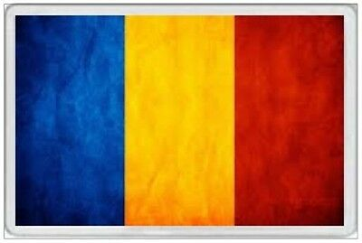 Romania - Jumbo Fridge Magnet  - Romanian Flag Bucharest