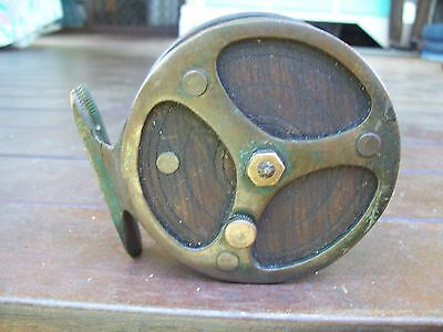 """Old Used Wooden/Brass """"Ireland""""Fishing Reel!!!!!"""
