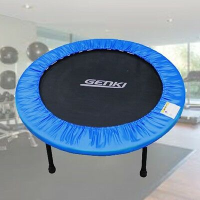 NEW Small Exercise Trampoline Fitness Rebounder Home Gym Metal Frame Foldable