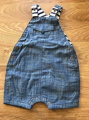 NEXT baby Boys Denim Dungarees 3-6 Months WORN ONCE