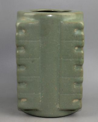 Anciet Chinese The song dynasty style Green glaze porcelain vase 琮