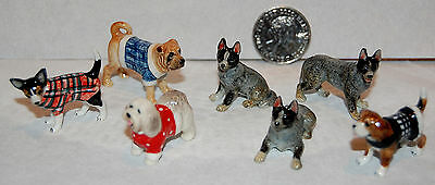 Job Lot Miniature Pottery Dogs