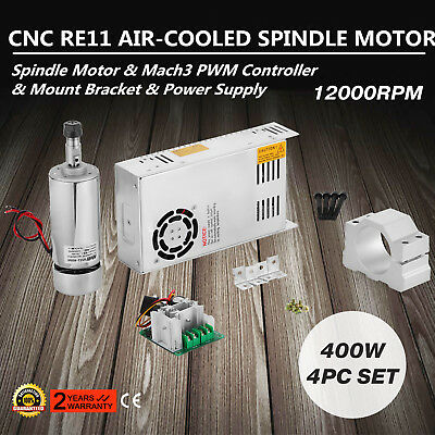400W Brushless Spindle Motor ER11&driver Speed Controller Automation Drive