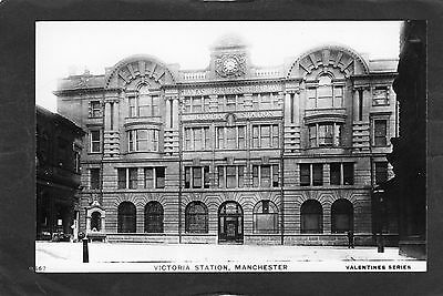 L & Y Rly. MANCHESTER VICTORIA STATION FRONT-Proper R/P-P/C glossy