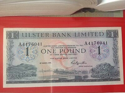 Northern Ireland Ulster Bank £1 banknote UNC