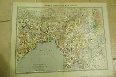 ANTIQUE INDIA maps c1900 large folio Bengal & Pamirs Burmah British Empire