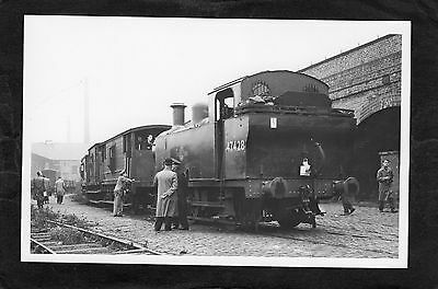 L & Y Rly. SALFORD GOODS STATION loco No.47428 in 1962-Proper R/P-P/C glossy