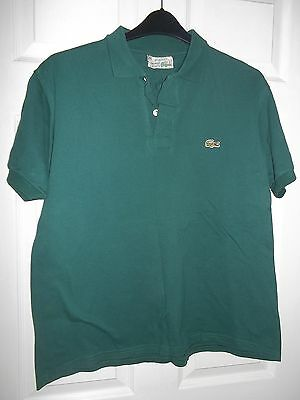 Mens vintage LACOSTE T shirt  size 42 inch green XL