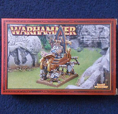 2005 Dwarf Thorgrim Grudgebearer on Throne of Power Citadel Warhammer King's GW