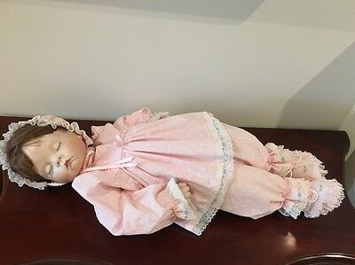 Porcelain Doll Hand Made Beautiful Baby Doll