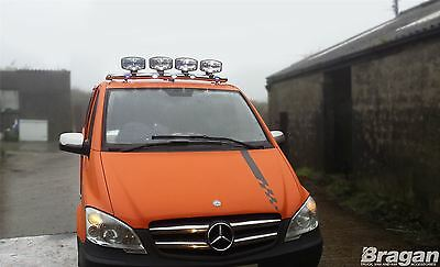 2014+ Mercedes Vito / Viano Stainless Steel Front Low Roof Light Bar + Spots