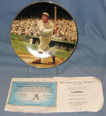 Rogers Hornsby Delphi Collector Plate Baseball Legends