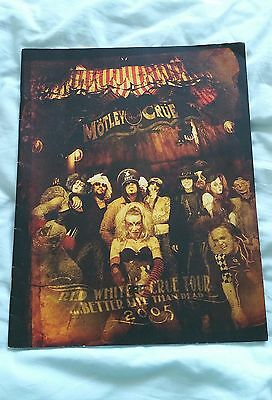 Motley Crue Tour Programme 2005 Red, White and Crue ...Better Live than Dead VGC