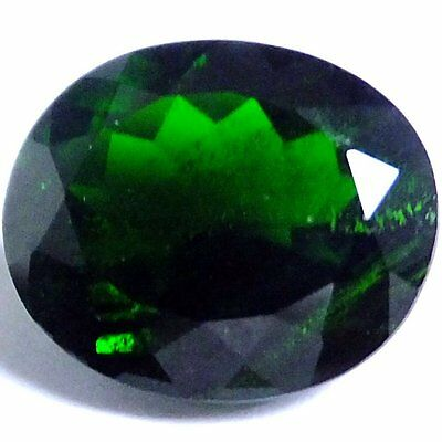 NATURAL TOP CHROME GREEN DIOPSIDE GEMSTONES (12.1 x 10.2 mm) LARGE OVAL-CUT