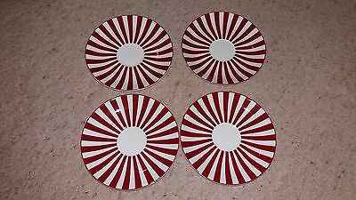 4 Marks and Spencer fine china saucers 'Ruby' design