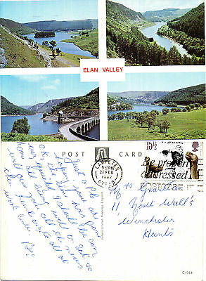 1982 Multi Views Of The Elan Valley Powys Wales Colour Postcard