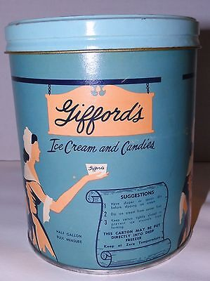 Vintage Giffords Ice Cream And Candies Container