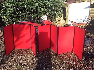 Exhibition Stand Clip System Display Table - Red With Bag
