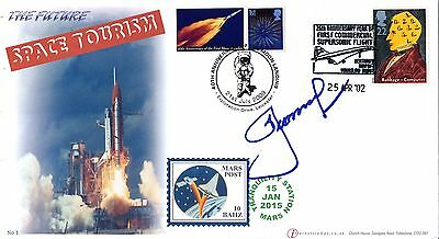 Buckingham Cover Space Tourism Cover signed by Alexei Leonov