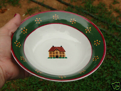 Block COUNTRY VILLAGE Cereal Bowl 7 1/4'' NICE