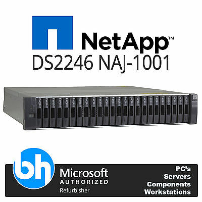 NetApp Disk Array DS2246 NAJ-1001 Chassis 2x 111-00690+A2 IOM6 6Gbps Module