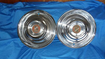 Cadillac Sombrero hub caps, 1950's, set of 2, very nice  used condition