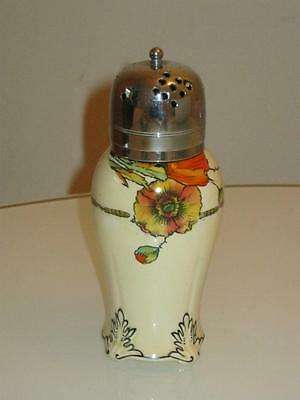 "Art Nouveau Royal Venton Handpainted ""poppy"" Porcelain Sugar Sifter"