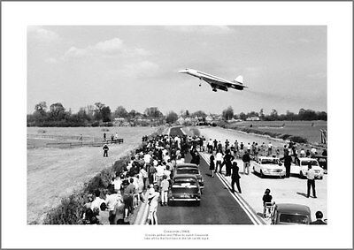 Concorde's First UK Flight Watched by Crowd 1969 Aviation Photo Memorabilia