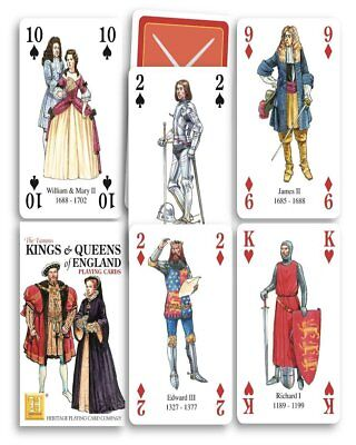 Kings & Queens of England set of 52 playing cards + jokers (hpc)