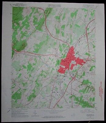 Winchester Virginia Little North Mountain vintage 1967 old USGS Topo chart