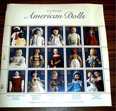 `classic American Dolls` 32 Cent New Unfranked Complete Sheet