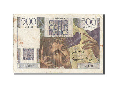 [#205552] 500 Francs type Chateaubriand, Fayette 34.10, 04 Septembre 1952