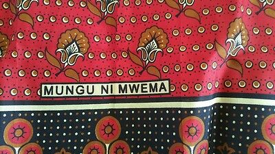 African Khanga Leso New Swahili Africa Wrap Skirt Decor Ethnic Kanga Lesso