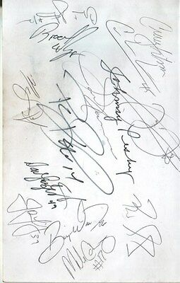 Frank Thomas / Johnny Pesky Autographed Page by 14 Baseball Players D.12