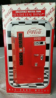 1994 Coca-Cola Die-Cast Metal Collectible Musical Bank Enesco NEW IN BOX