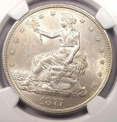 1877-S Trade Silver Dollar T$1 VP-003 Minute S - NGC Uncirculated Dets (UNC MS)