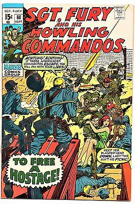 MARVEL COMIC Sgt Fury and His Howling Commandos (1963- 1981)   # 80  Fine