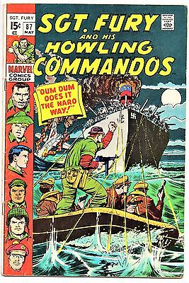 MARVEL COMIC Sgt Fury and His Howling Commandos (1963- 1981)   # 87  Fine -