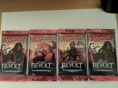 Magic The Gathering  Aether Revolt X4 Booster Packets