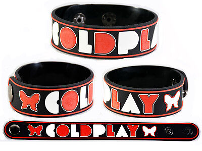 Coldplay  Rubber Bracelet Wristband