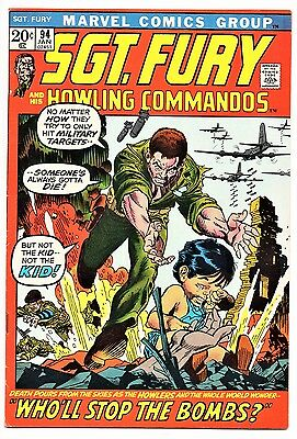 MARVEL COMIC Sgt Fury and His Howling Commandos (1963- 1981)   # 94  Fine