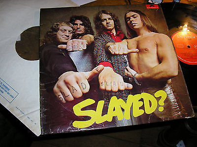 SLADE  -     Slayed?      ORIGINAL 1972 UK FIRST PRESS LP / inner....DECENT COPY