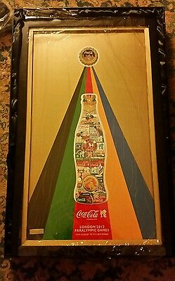 VERY LIMITED EDITION Coca-Cola London 2012 Framed Paralympic Pin Set 23/300